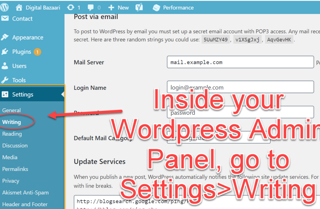update wordpress ping list