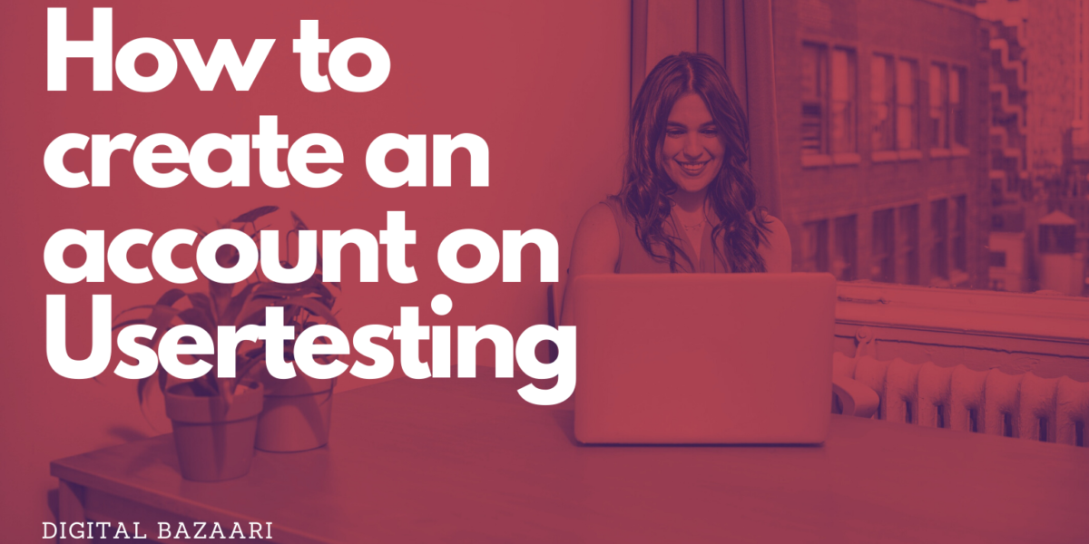 create an account on usertesting