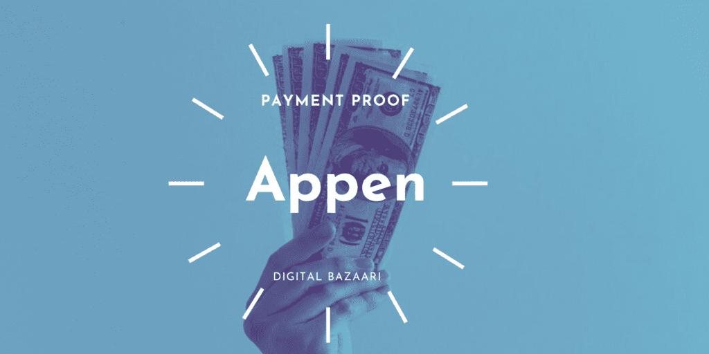 appen payment proof