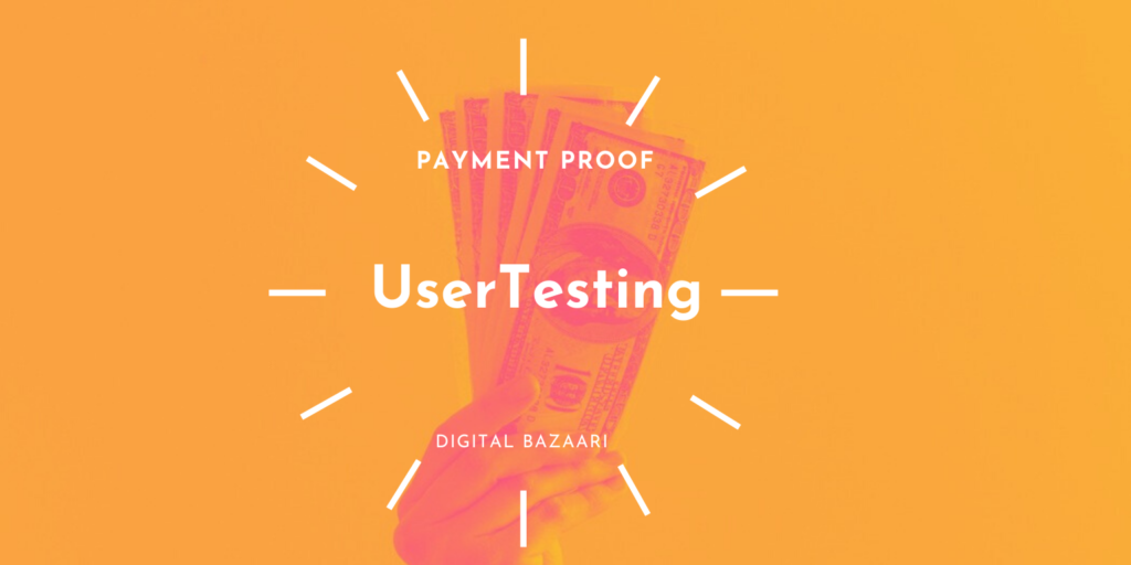 usertesting payment proof