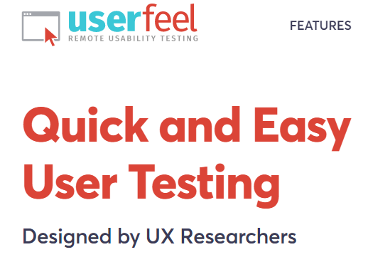 Quick and easy user testing