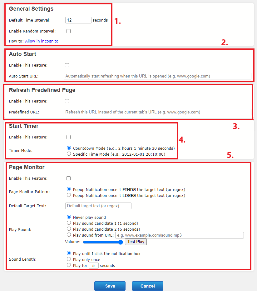 auto refresh plus settings explained for beer money sites