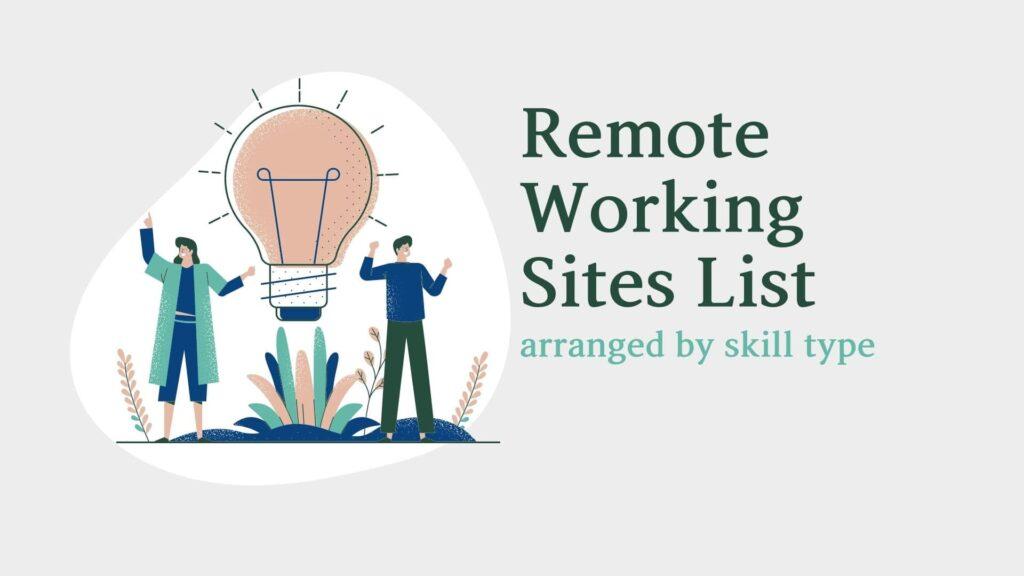 remote working sites list