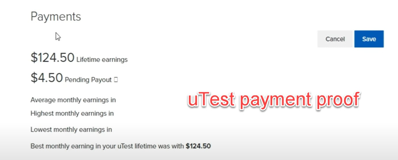 uTest Payment Proof