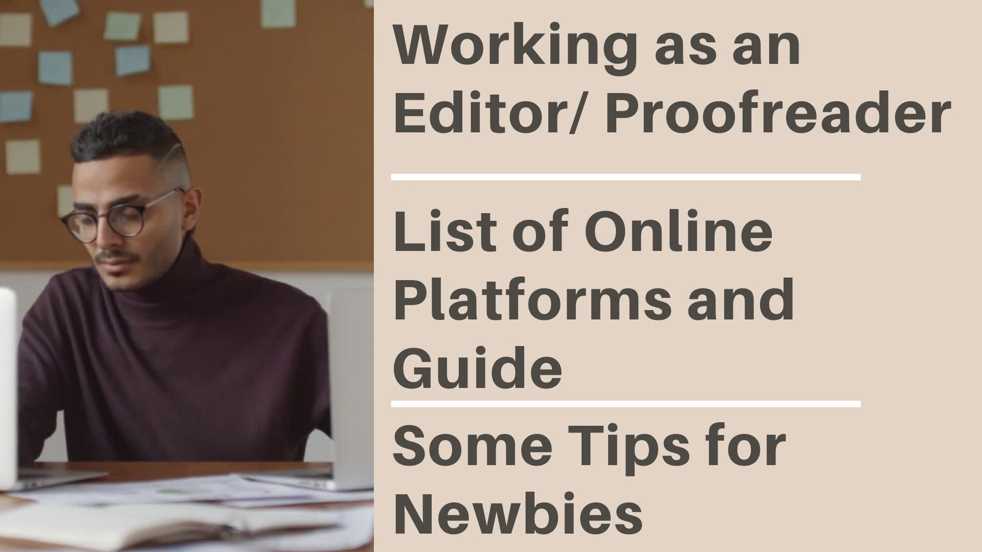 working online as an editor/proofreader