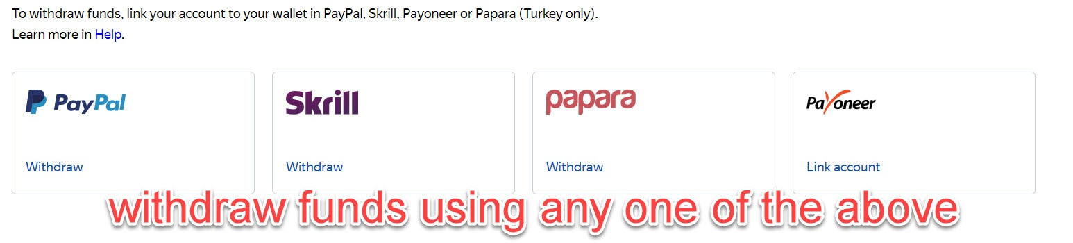 yandex toloka payment methods