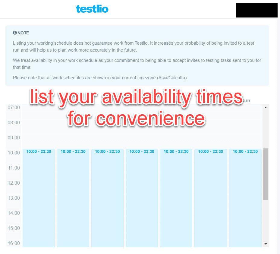 availability in testlio