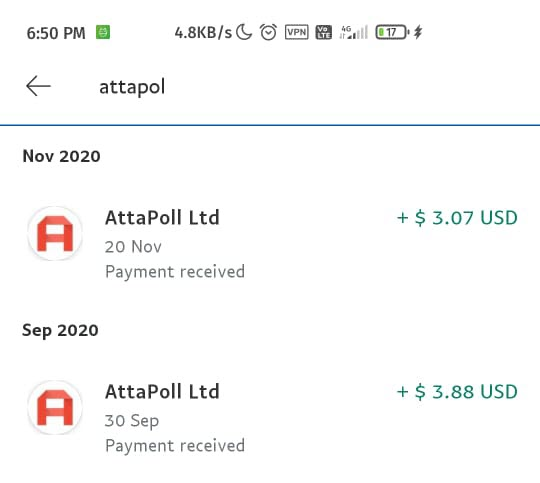 another attapoll payment proof