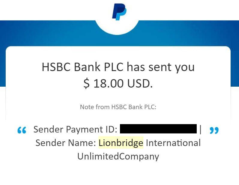 lionbridge ai data collection payment proof
