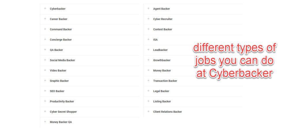 Cyberbacker job openings