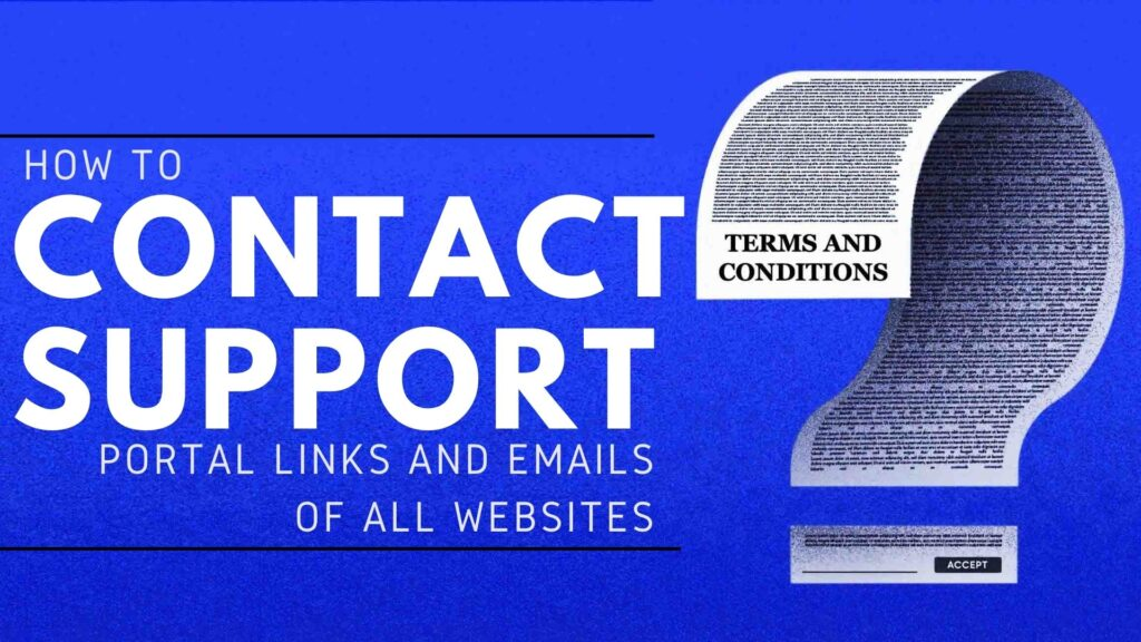 support emails of all crowdworking websites
