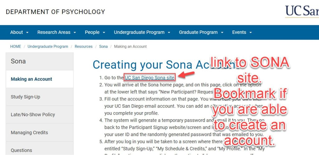 how to find SONA links for paid studies