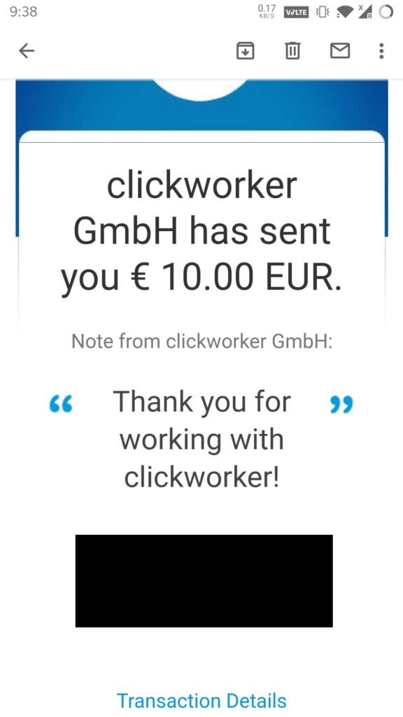 clickworker payment proof july 2021 latest