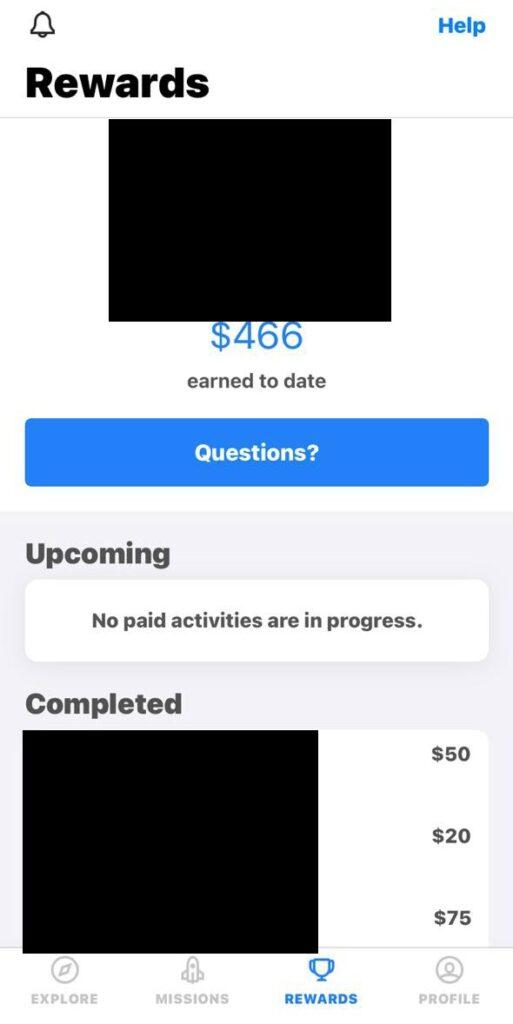 dscout earnings proof