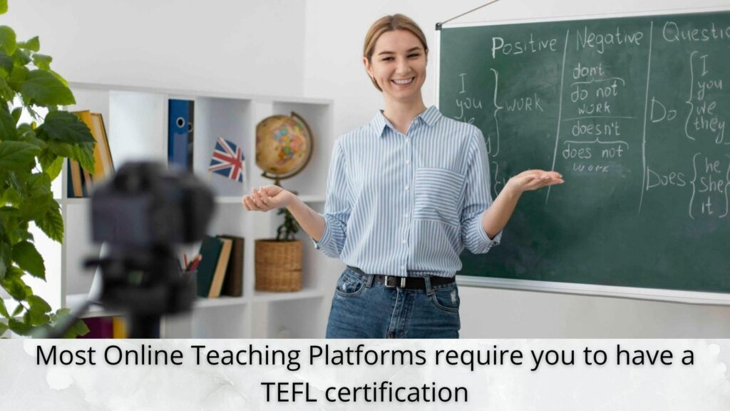 what is TEFL certificate for english tutor jobs