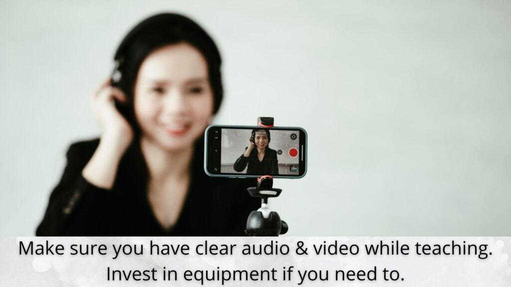 audio video equipment for online teaching job