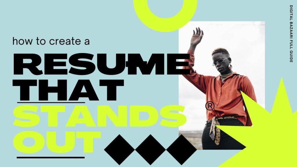 how to create a visual resume tutorial