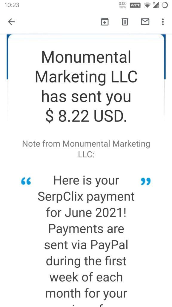 serpclix payment proof june 2021 latest monumental marketing