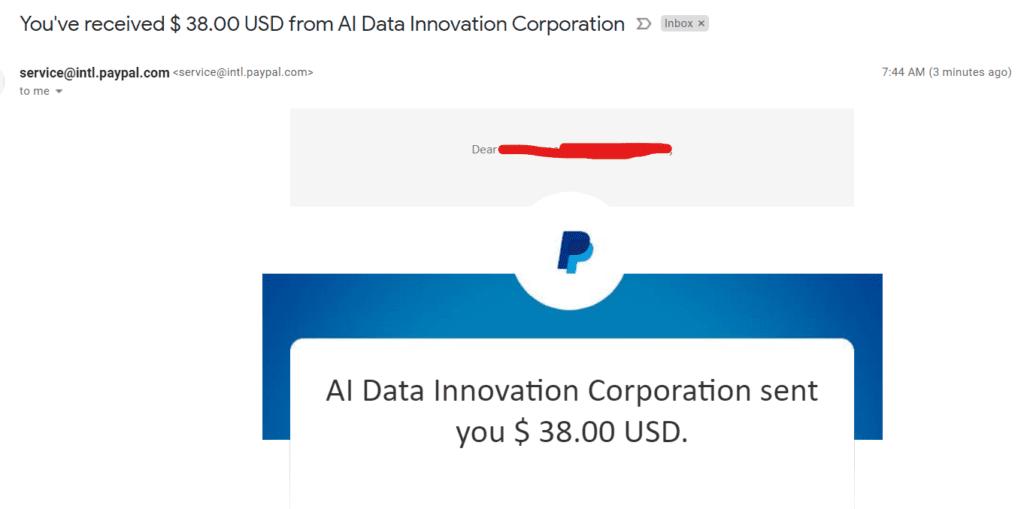 teemwork.ai payment proof july 2021 ai data innovation corporation