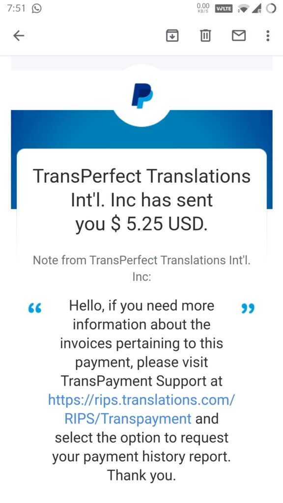Transperfect Dataforce Payment Proof July 2021