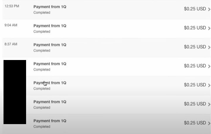 payment proof from 1q get paid to chat with people