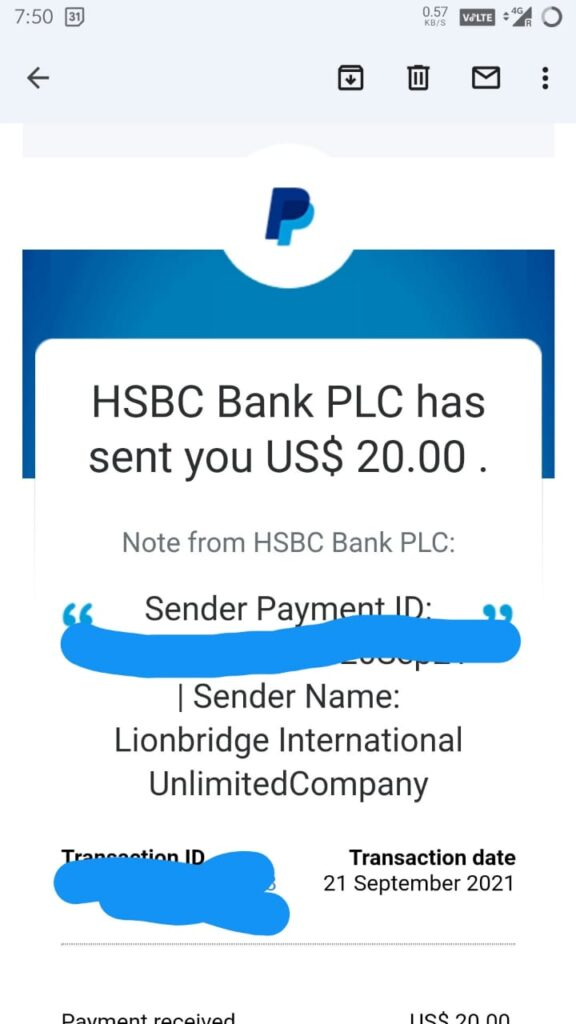 lionbridge gaming payment proof. earn for game testing