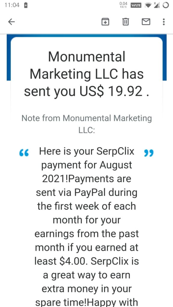 best and legit paid to click website. Serpclix payment proof