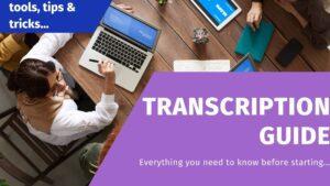 transcription guide get paid to caption